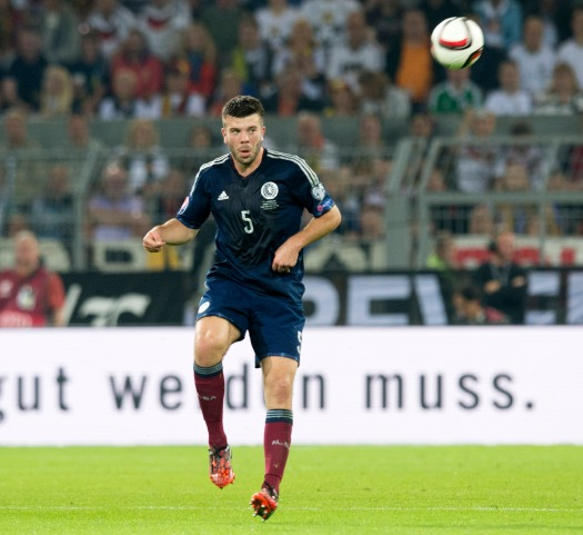 All Hans on deck - Grant Hanley had his work cut out for him against Germany
